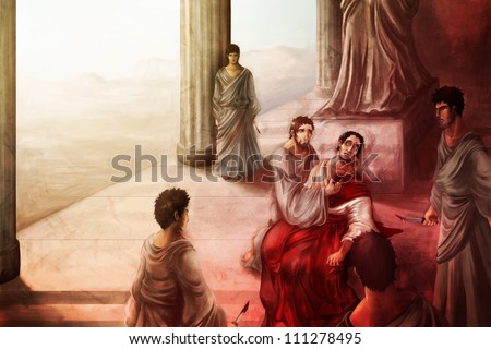 Julius Caesar and the Ides of March - stock photo