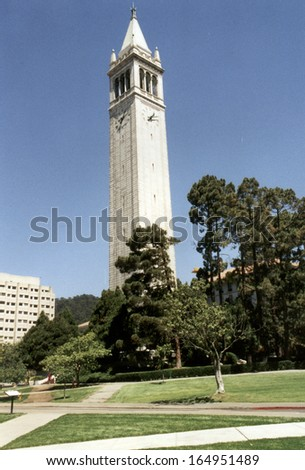 JULY 1994 - BERKELEY: Sather Tower on the campus of the University of California at Berkeley, California.