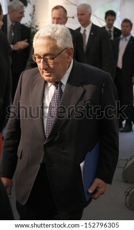 "JULY 3, 2008 - BERLIN: Former US Secretary of State Henry Kissinger after having received the ""Kissinger Prize"" in the American Academy, Berlin-Wannsee."