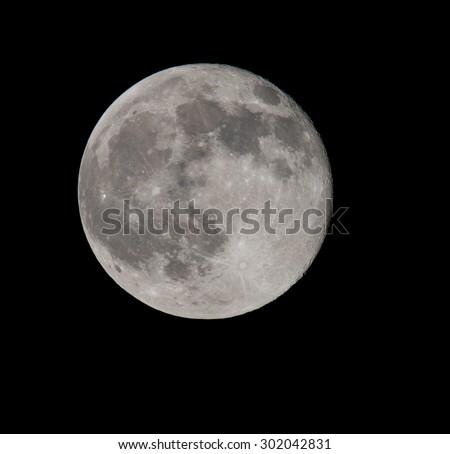 July Blue Moon - stock photo