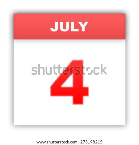 July 4. Day on the calendar. 3d - stock photo