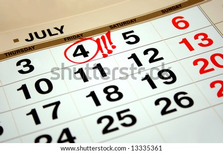 July 4, 1776 Declaration of Independence was signed. At that time, residents of 13 British colonies, which were located along the east coast of today's United States territory - stock photo