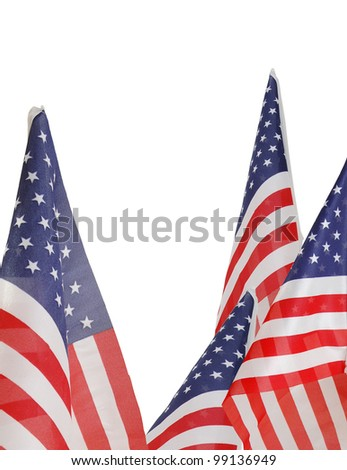 July four of USA flags holiday background