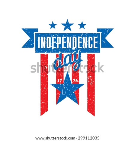 July Fourth, Independence Day of USA Illustration Template