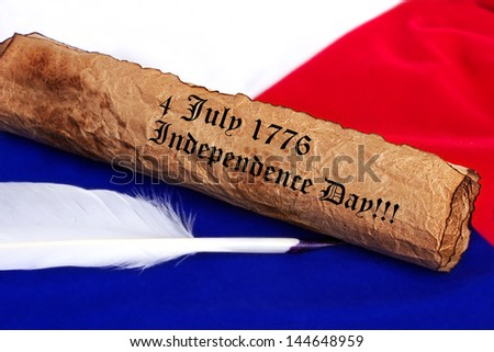 july 4 1776  Independence Day - stock photo