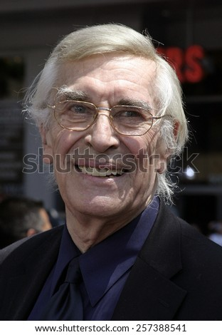 """July 10, 2005. Martin Landau attends at the """"Charlie and the Chocolate Factory"""" World Premiere at the Grauman's Chinese Theatre in Hollywood.  - stock photo"""
