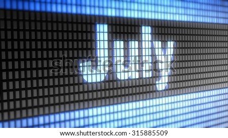 July sign - stock photo
