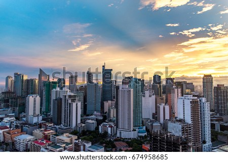 July9,2017 sunrise in the makati city from beacon conde, makati , philippines