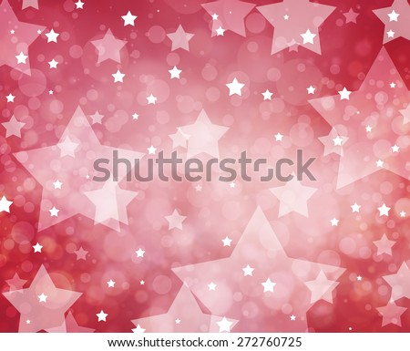 July 4th background. White stars on red background.  - stock photo