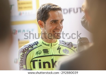 july 2, 2015, Utrecht Tour de france team presentation. Alberto Contador