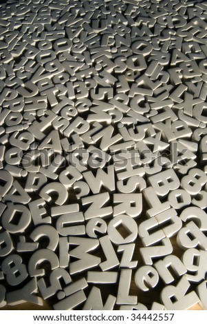 Jumble of letters - stock photo