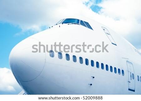 Jumbo jet - stock photo