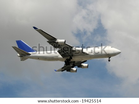 Jumbo jet delivering cargo and freight worldwide - stock photo