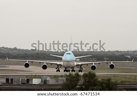 Jumbo jet on the runway