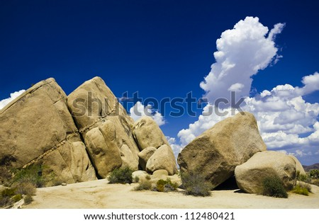 jumbo rocks in joshua tree national park, America