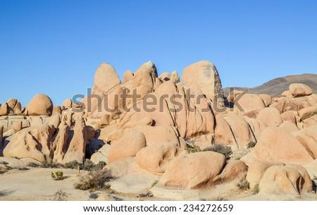 Jumbo rocks in Joshua tree national park, California. - stock photo