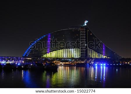 Jumeirah beach hotel - stock photo