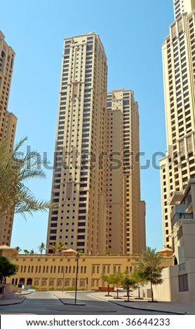 Jumeirah Beach Residence Dubai Apartments - stock photo