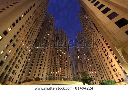 Jumeirah Beach Residence in Dubai, United Arab Emirates - stock photo