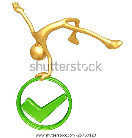 Jump For Joy Approved - stock photo