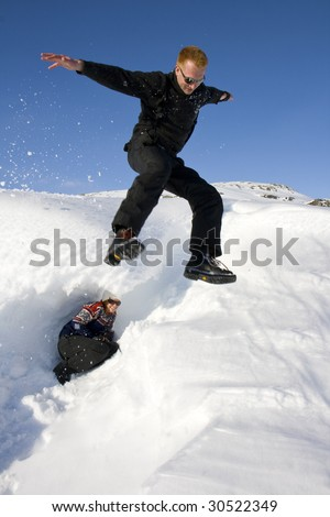 Jump In Snow