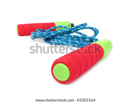 Jump rope green red blue - stock photo