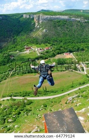 Jump with a rope. - stock photo