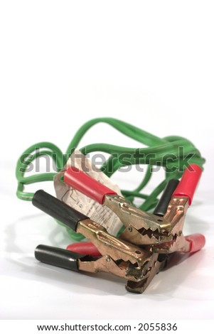 jumper cable - emergency kits - stock photo