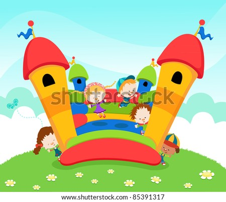 Jumping Castle - stock photo