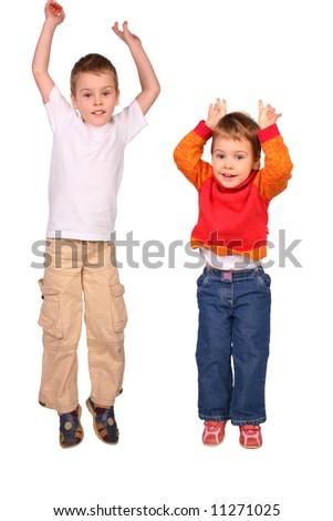 jumping children - stock photo