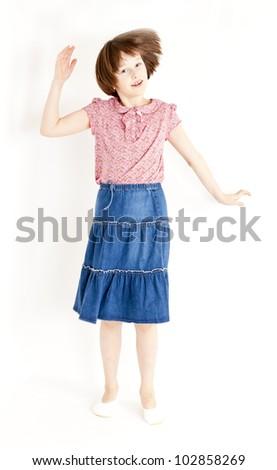 jumping girl - stock photo