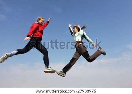 jumping jump - stock photo