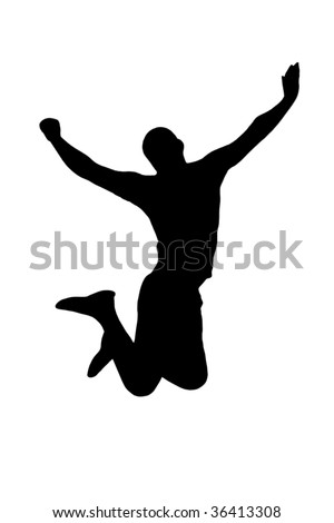Jumping man isolated
