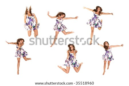 Jumping series of a young adult female