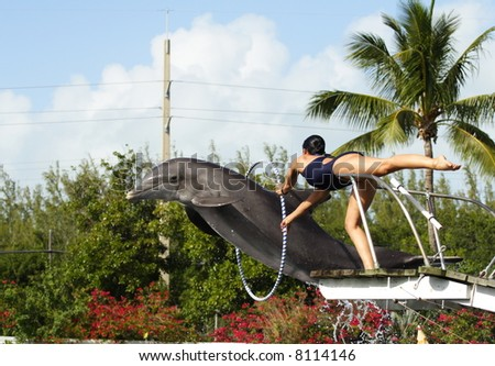 Jumping through Hoops - stock photo
