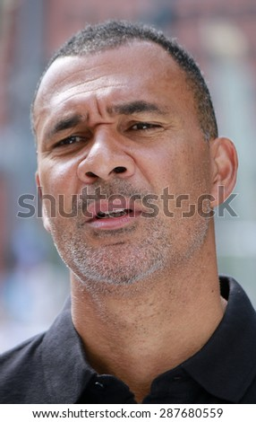"JUNE 6, 2015 - BERLIN: Ruud Gullit at the ""Fanmeile"" before the Champions League finals in Berlin."