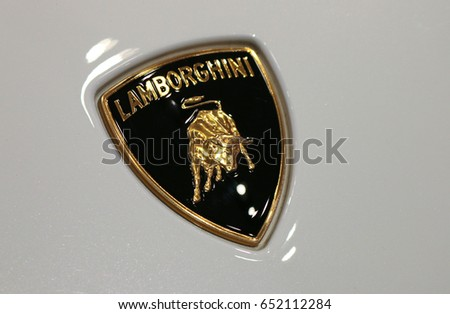 June 2016 Berlin Logo Brand Lamborghini Stock Photo 652112284