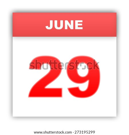 June 29. Day on the calendar. 3d - stock photo