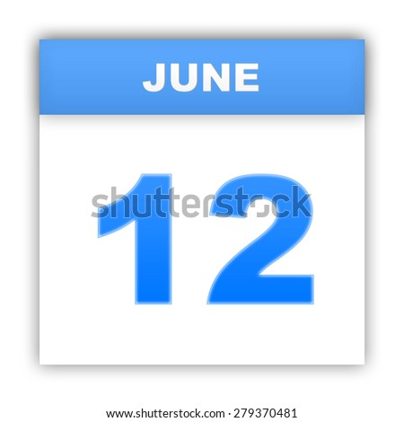 June 12. Day on the calendar. 3d - stock photo