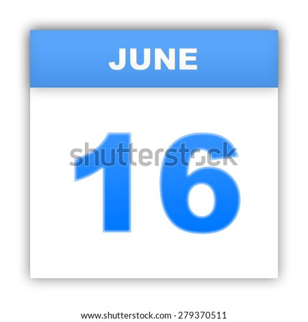 June 16. Day on the calendar. 3d - stock photo