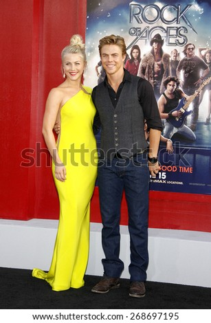 "June 8, 2012. Julianne Hough and Derek Hough at the Los Angeles premiere of ""Rock of Ages"" held at the Grauman's Chinese Theater, Los Angeles. - stock photo"