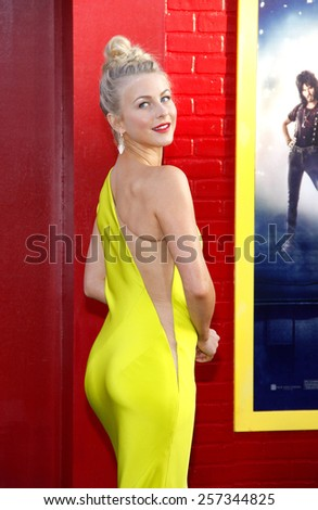 "June 8, 2012. Julianne Hough at the Los Angeles premiere of ""Rock of Ages"" held at the Grauman's Chinese Theater, Los Angeles.  - stock photo"