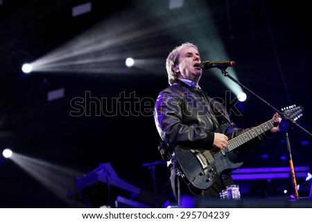 June 19, 2015 - Oswiecim,Poland: Chris de Burgh during a concert at the  Life  Festival in Oswiecim