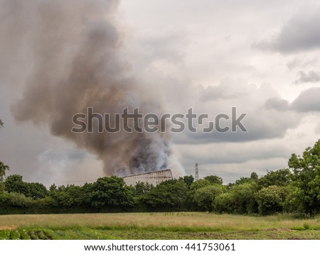 June 21st 2016. Leyland, Lancashire, Preston. Major fire at Wiltshire Shavings and sawdust supplies causing some residemnts to be evacuated.