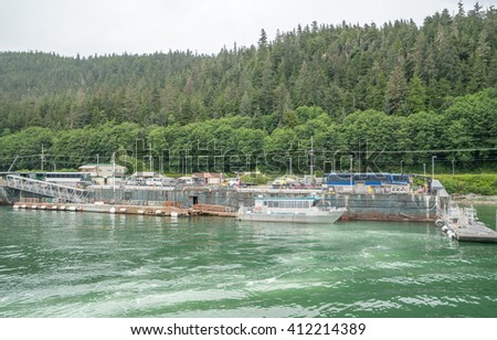 Juneau - The Capital City of Alaska, USA  - stock photo