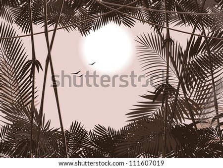 jungle forest. raster version 2 - stock photo
