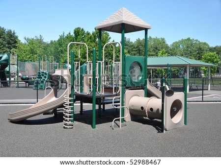 Jungle Gym Playground Agility Fitness Exercise Equipment - stock photo