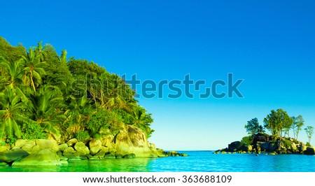 Jungle Shore Bay  - stock photo