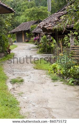 Jungle Village - stock photo