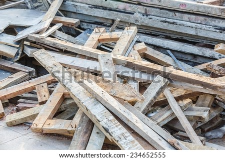 junk construction wood plank background